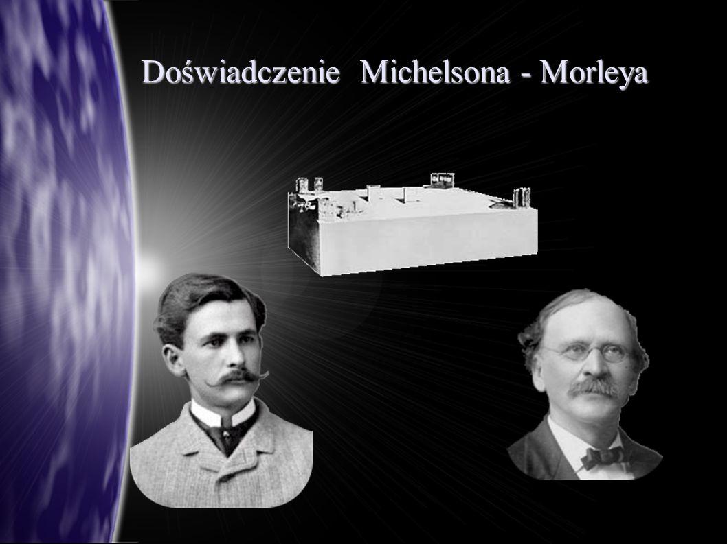 Doświadczenie Michelsona-Morleya w nowym interferometrze zwiększono drogę, po której poruszało się światło do 11 m aparatura pomiarowa została umieszczona w zamkniętej piwnicy masywnego, ceglanego budynku, w celu eliminacji wpływu temperatury i drgań drgania zostały dodatkowo wytłumione poprzez umieszczenie interferometru na marmurowym bloku, który pływał w kadzi wypełnionej rtęcią udoskonalony interferometr byłby w stanie wykryć przesunięcie już o 0,01 prążka, przy czym spodziewane przesunięcie wynosiło 0,4 prążka