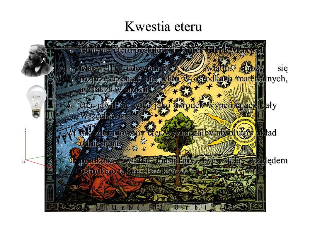 Reakcja świata nauki jednymi z pierwszych, którzy podali interpretacje wyniku doświadczenia, byli George Francis FitzGerald i Hendrik Antoon Lorentz obaj naukowcy zaproponowali, iż kula ziemska oraz każdy obiekt na jej powierzchni ulega nieznacznemu skróceniu na skutek odkształcenia, wywołanego ruchem Ziemi w eterze Lorentz zasugerował, że ruch ciał względem eteru powoduje skrócenie ich wymiarów o pewien czynnik na pełne wyjaśnienie trzeba było poczekać jeszcze kilka lat