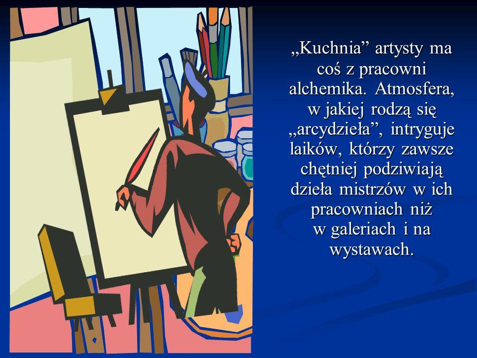 CZY WIESZ, CZYM POSŁUGUJE SIĘ ARTYSTA, ABY WYKONAĆ: akwarelę akwarelę obraz olejny obraz olejny rysunek rysunek fresk fresk mozaikę mozaikę rzeźbę w kamieniu rzeźbę w kamieniu ceramikę ceramikę drzeworyt drzeworyt miedzioryt miedzioryt litografię litografię graffiti graffiti fotografię fotografię grafikę komputerową grafikę komputerową ODGADNIJ CZYJ TO WARSZTAT