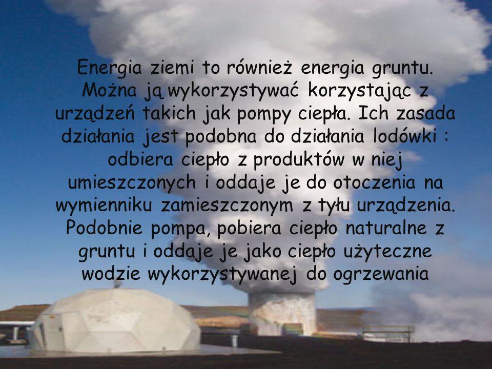 Energia ziemi to również energia gruntu. Można ją wykorzystywać korzystając z urządzeń takich jak pompy ciepła. Ich zasada działania jest podobna do d