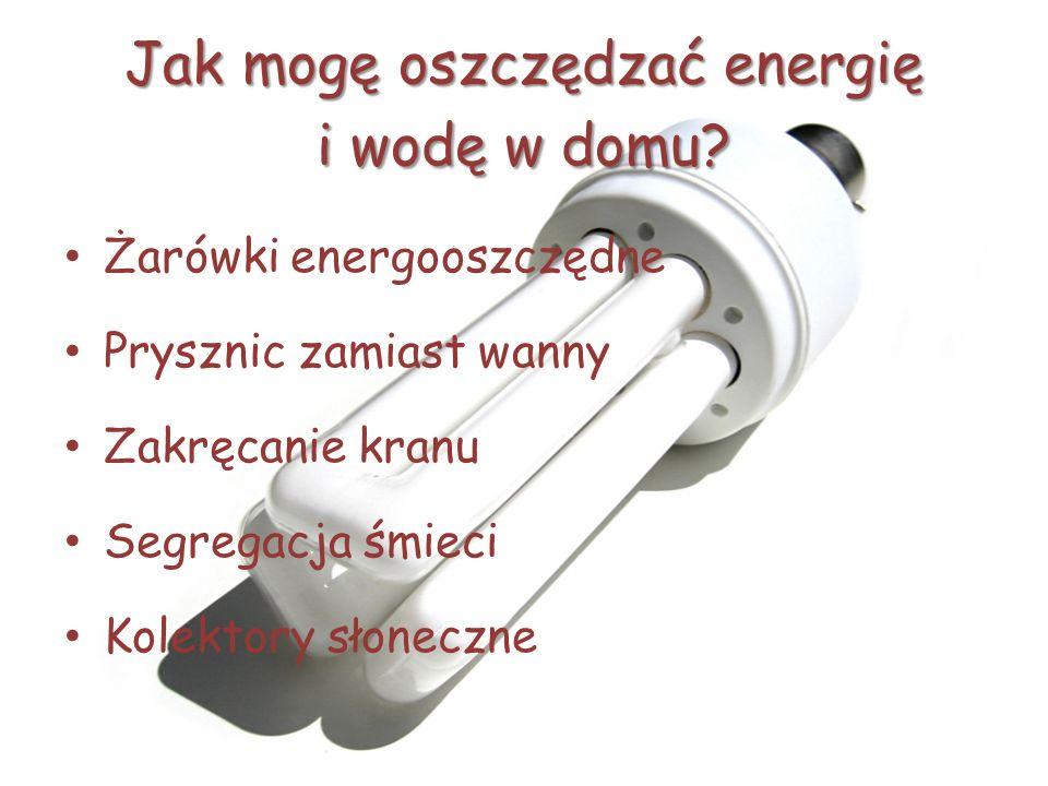Jak mogę oszczędzać energię i wodę w domu.