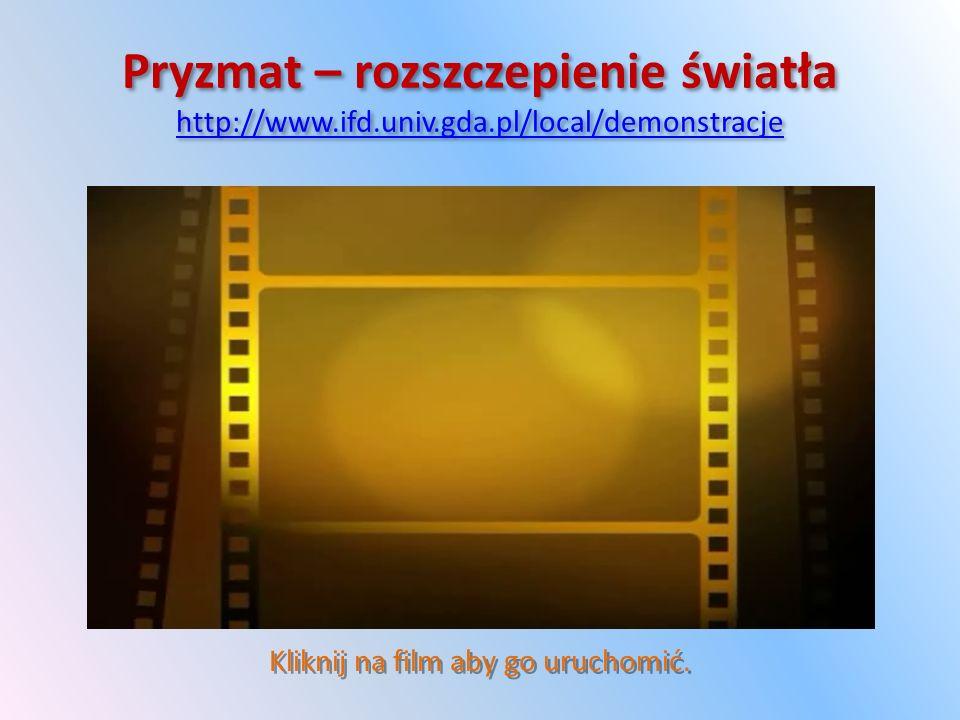 Pryzmat – rozszczepienie światła http://www.ifd.univ.gda.pl/local/demonstracje http://www.ifd.univ.gda.pl/local/demonstracje Pryzmat – rozszczepienie