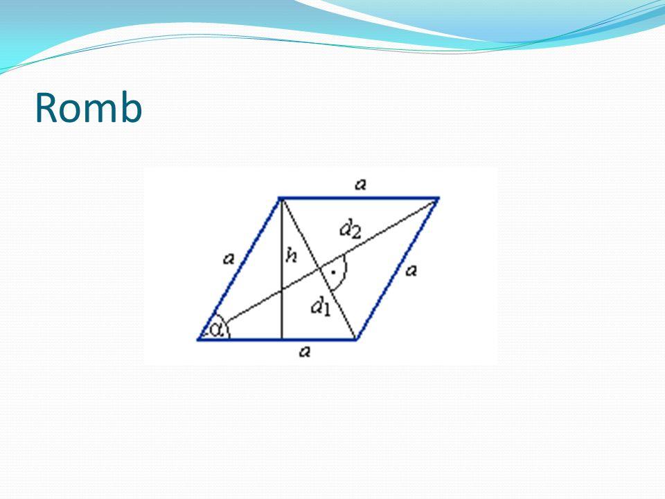Trapez – to czworokąt, który ma parę równoległych boków. Nazywamy je podstawami, a dwa pozostałe boki, to ramiona. Pole = ½ (a + b) * h Obwód = a + b