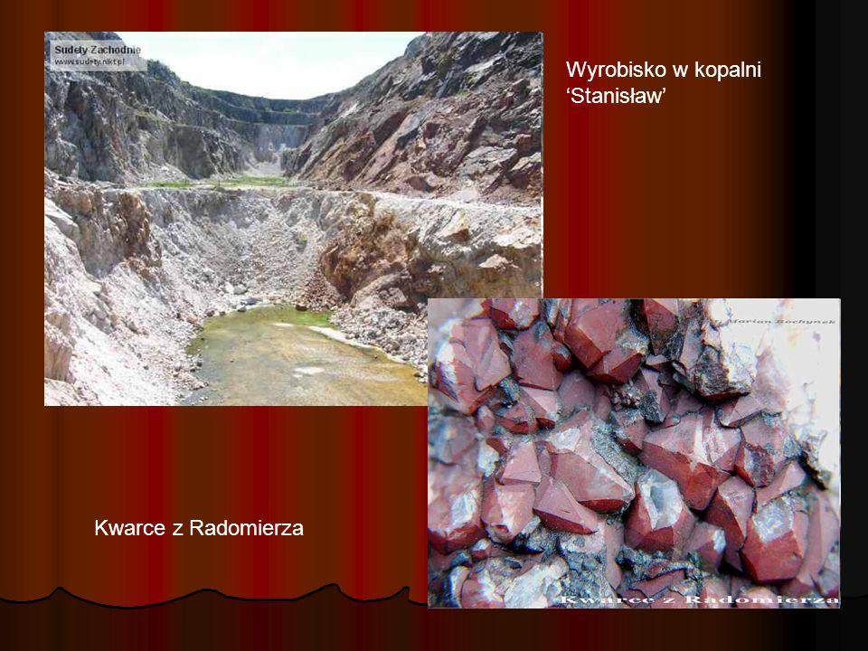 Wyrobisko w kopalni Stanisław Kwarce z Radomierza