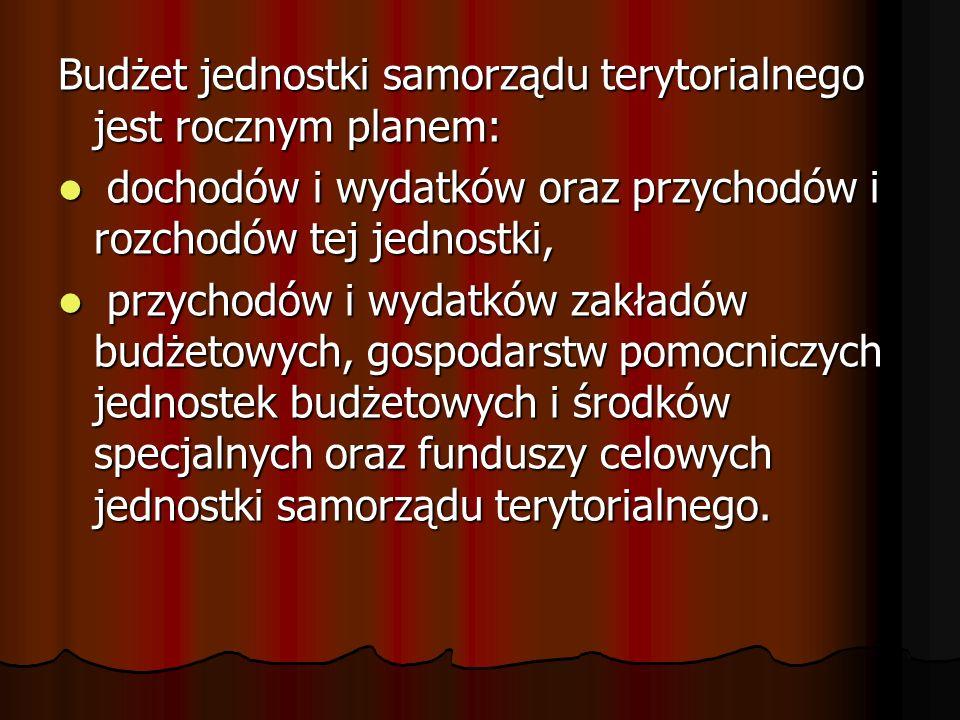 Zarządzanie dochodami gminy Gmina jako jednostka samorządu terytorialnego ma zapewnione stałe dochody.