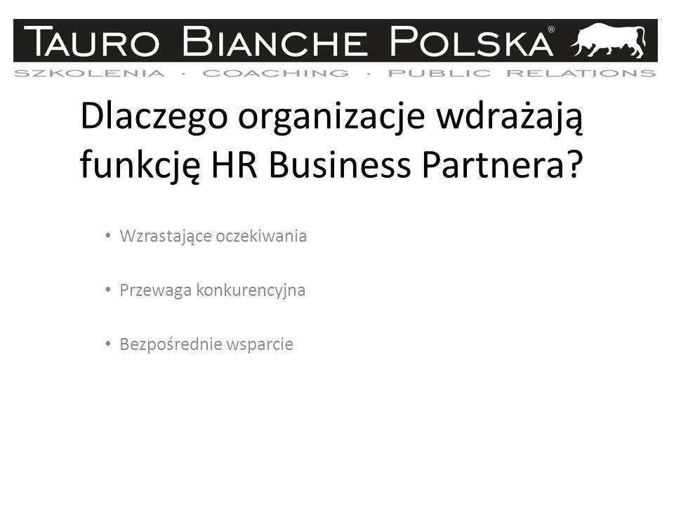 Dlaczego organizacje wdrażają funkcję HR Business Partnera.