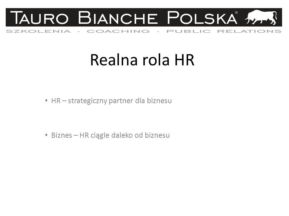 Realna rola HR HR – strategiczny partner dla biznesu Biznes – HR ciągle daleko od biznesu