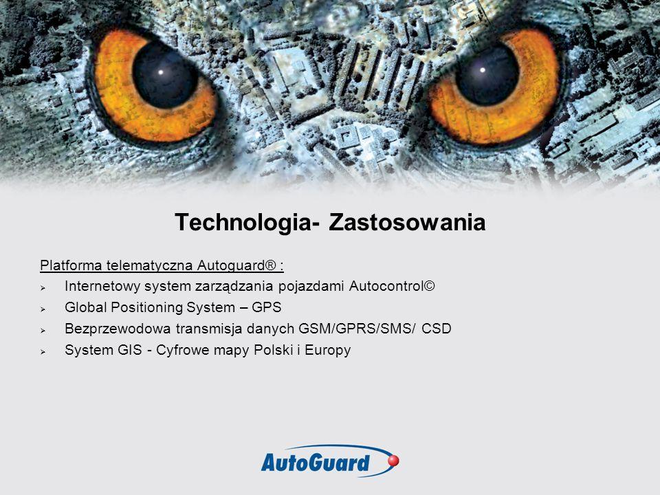Technologia- Zastosowania Platforma telematyczna Autoguard® : Internetowy system zarządzania pojazdami Autocontrol© Global Positioning System – GPS Be
