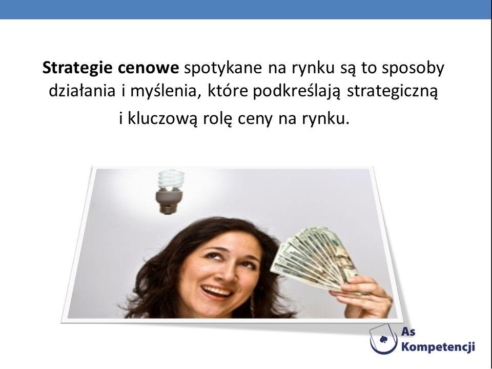 Podstawowe strategie cenowe 1.