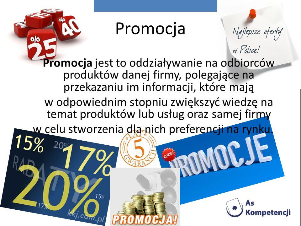 Promocja jest elementem komunikacji marketingowej.