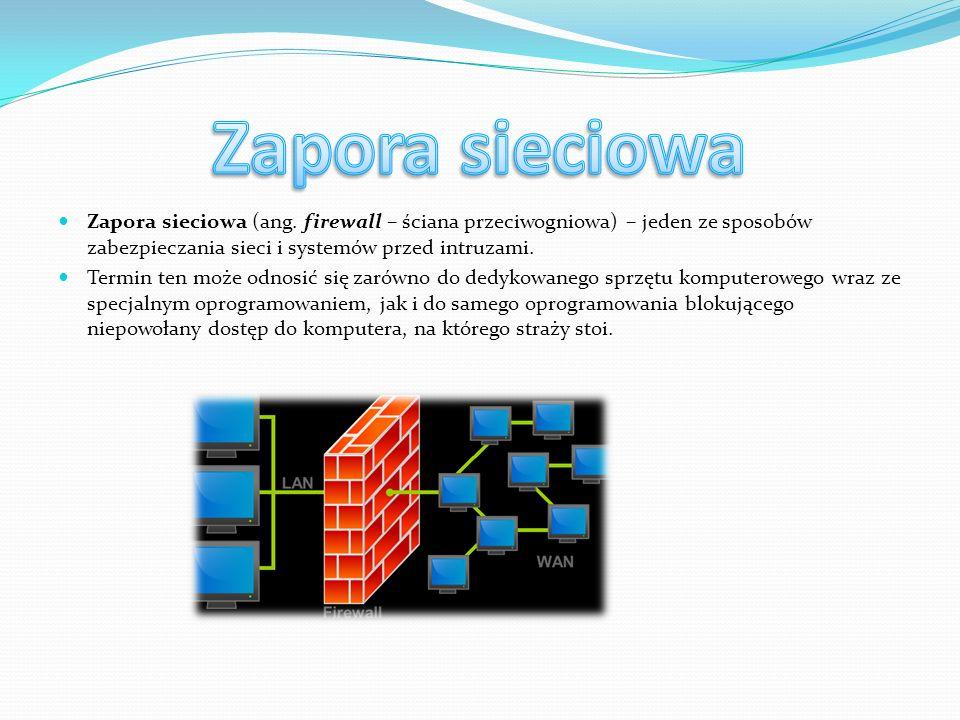 W sieci TCP/IP domyślna brama (sieciowa) (ang.