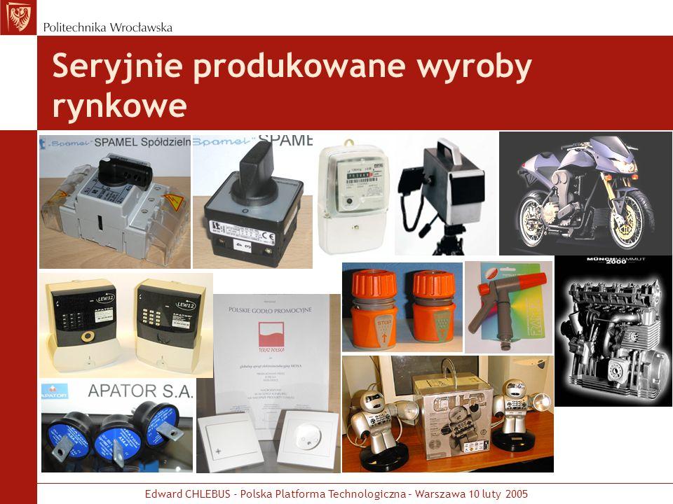 Edward CHLEBUS - Polska Platforma Technologiczna – Warszawa 10 luty 2005 Seryjnie produkowane wyroby rynkowe