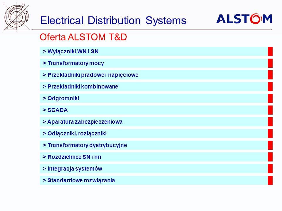 Electrical Distribution Systems Oferta ALSTOM T&D > Wyłączniki WN i SN > Transformatory mocy > Przekładniki prądowe i napięciowe > Przekładniki kombin