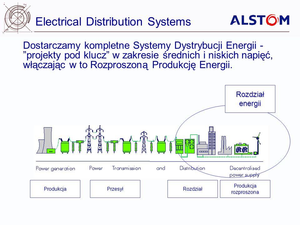 Electrical Distribution Systems Rozdziałenergii Dostarczamy kompletne Systemy Dystrybucji Energii - projekty pod klucz w zakresie średnich i niskich n