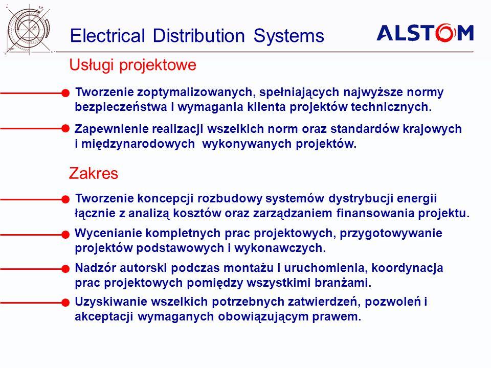Electrical Distribution Systems Zarządzanie projektami Usługi logistyczne i kompletacja dostaw.
