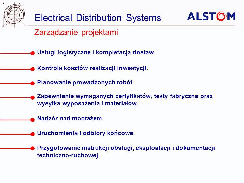 Electrical Distribution Systems Zarządzanie projektami Usługi logistyczne i kompletacja dostaw. Kontrola kosztów realizacji inwestycji. Planowanie pro