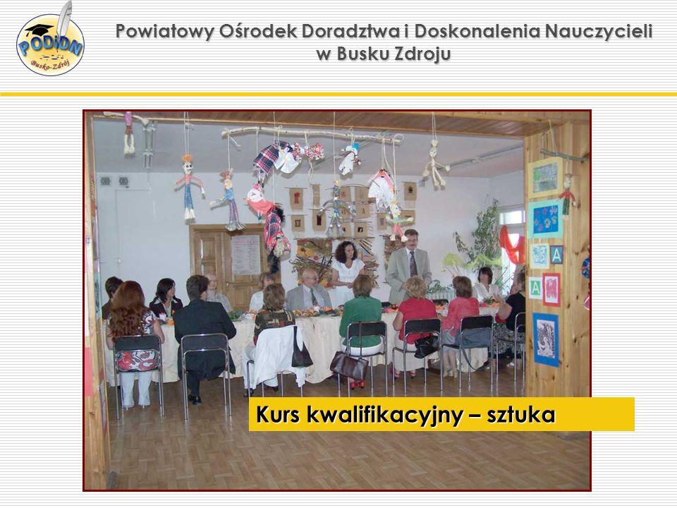 Powiatowy Ośrodek Doradztwa i Doskonalenia Nauczycieli w Busku Zdroju Kurs kwalifikacyjny – sztuka