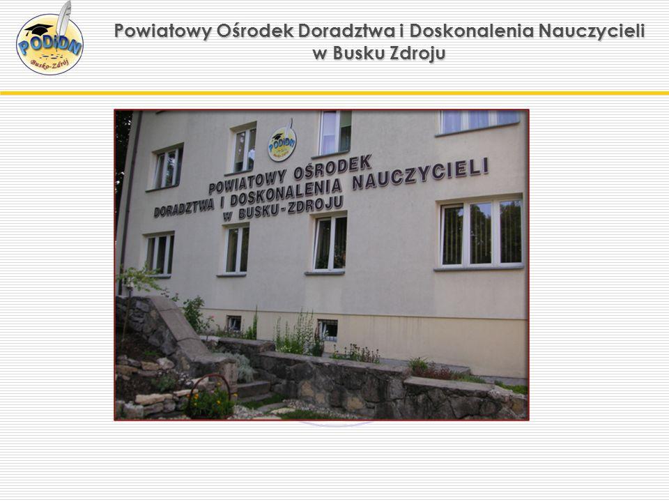Powiatowy Ośrodek Doradztwa i Doskonalenia Nauczycieli w Busku Zdroju Sale konferencyjne