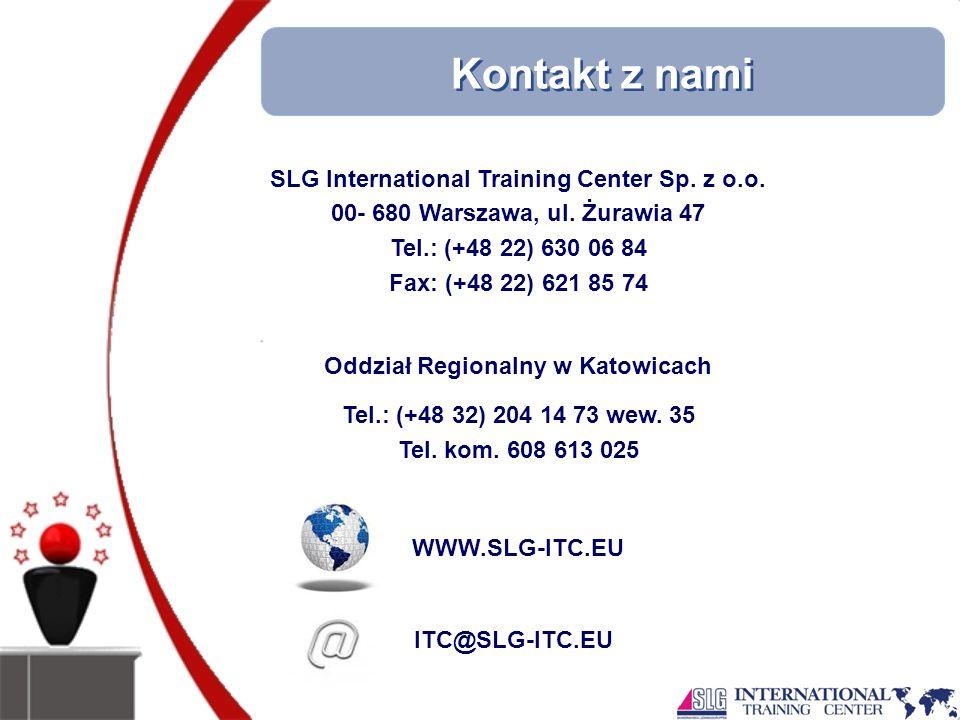 Kontakt z nami SLG International Training Center Sp.