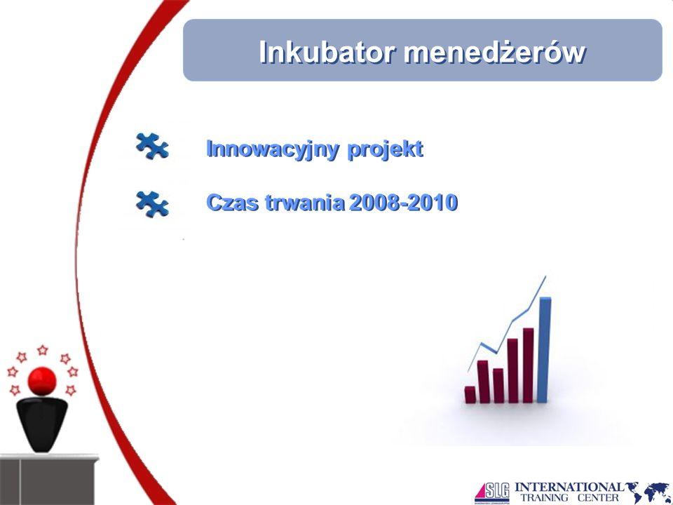 Inkubator menedżerów Innowacyjny projekt Czas trwania 2008-2010 Innowacyjny projekt Czas trwania 2008-2010