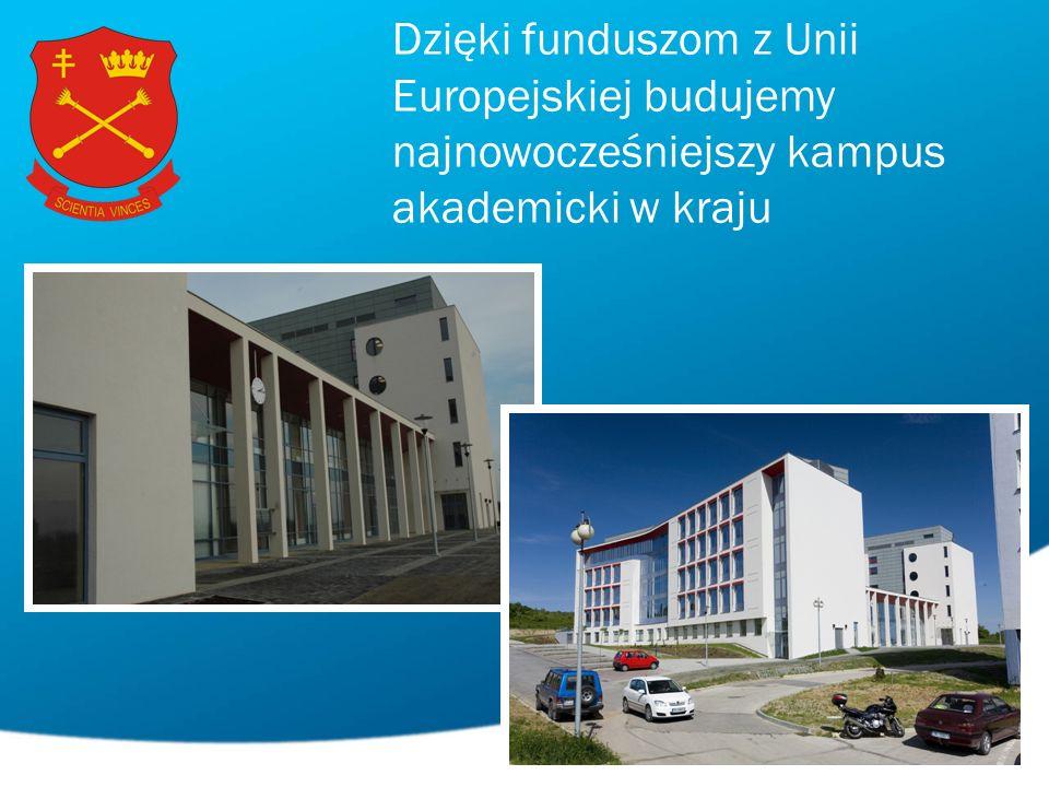 Dzięki funduszom z Unii Europejskiej budujemy najnowocześniejszy kampus akademicki w kraju