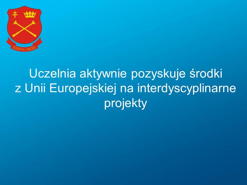 Uczelnia aktywnie pozyskuje środki z Unii Europejskiej na interdyscyplinarne projekty