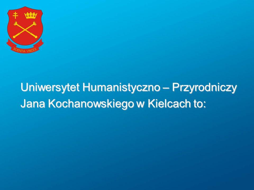 Uniwersytet Humanistyczno – Przyrodniczy Jana Kochanowskiego w Kielcach to:
