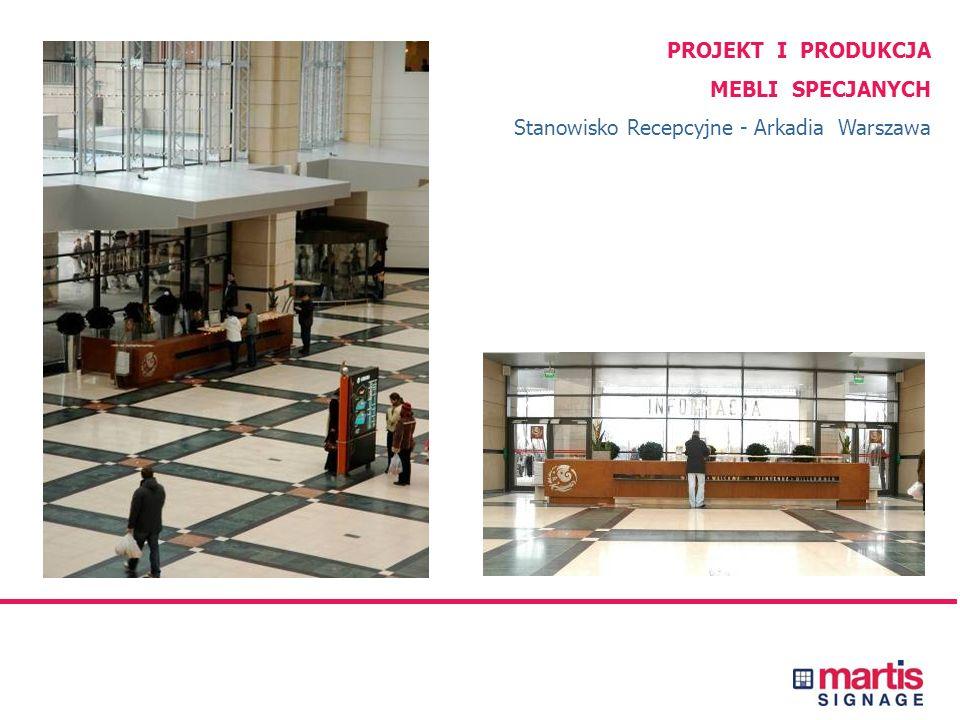 PROJEKT I PRODUKCJA OZNAKOWANIA Centrum Handlowe Arkadia, Warszawa Kompleksowy projekt i wykonanie oznakowania zewnętrznego, wewnętrznego, wyposażenia