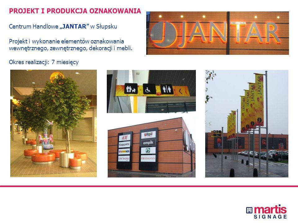 PROJEKT I PRODUKCJA OZNAKOWANIA Centrum Handlowe KAROLINKA w Opolu Projekt i wykonanie elementów oznakowania wewnętrznego, zewnętrznego i parkingowego
