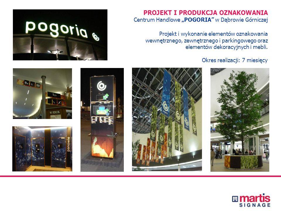 PROJEKT I PRODUKCJA OZNAKOWANIA Centrum Handlowe JANTAR w Słupsku Projekt i wykonanie elementów oznakowania wewnętrznego, zewnętrznego, dekoracji i me