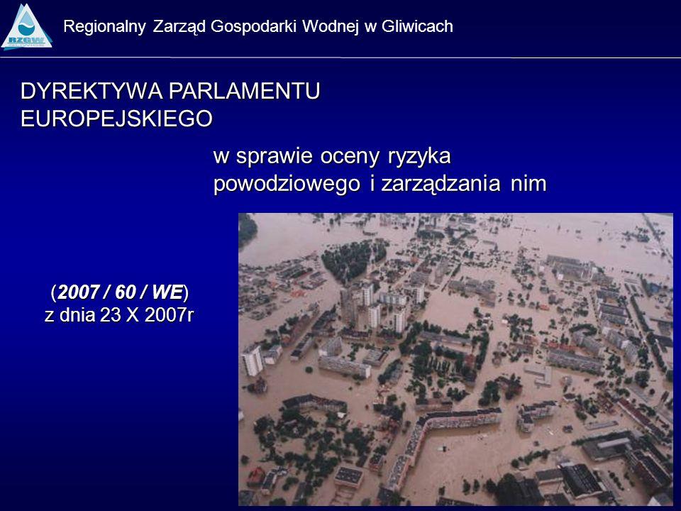 Regionalny Zarząd Gospodarki Wodnej w Gliwicach w sprawie oceny ryzyka powodziowego i zarządzania nim DYREKTYWA PARLAMENTU EUROPEJSKIEGO (2007 / 60 /