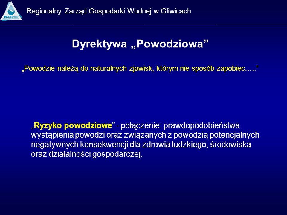 Regionalny Zarząd Gospodarki Wodnej w Gliwicach Dyrektywa Powodziowa Ryzyko powodziowe - połączenie: prawdopodobieństwa wystąpienia powodzi oraz związ
