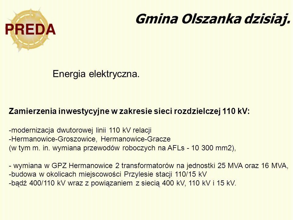 Zamierzenia inwestycyjne w zakresie sieci rozdzielczej 110 kV: -modernizacja dwutorowej linii 110 kV relacji -Hermanowice-Groszowice, Hermanowice-Grac