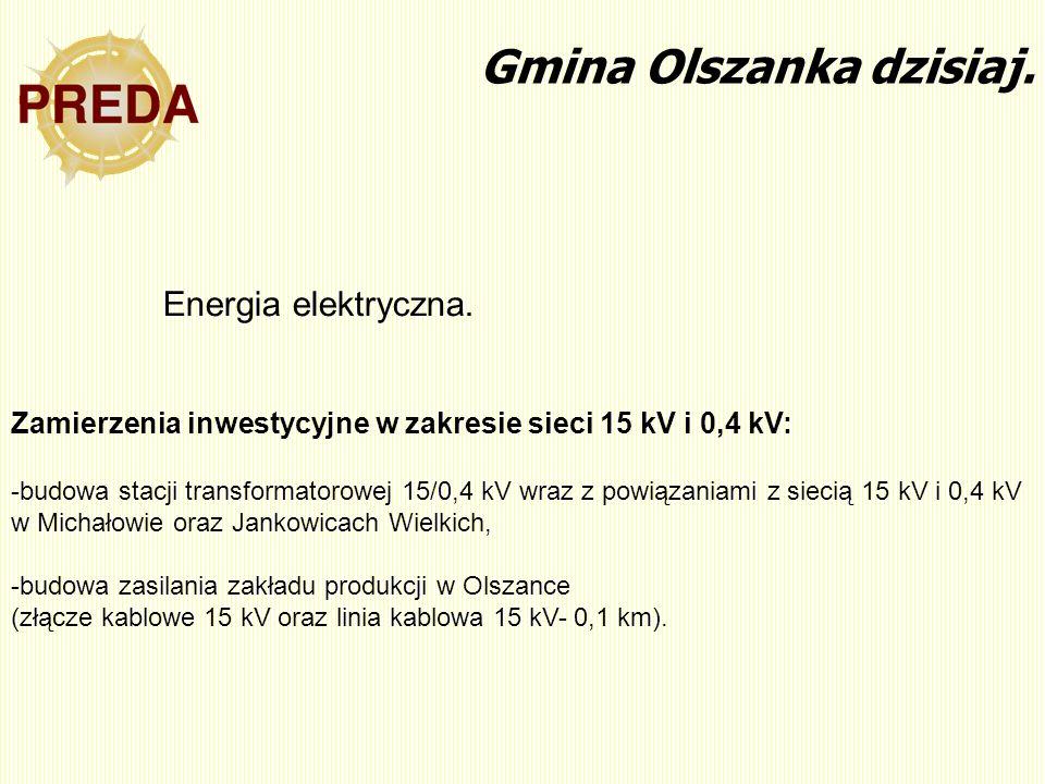 Zamierzenia inwestycyjne w zakresie sieci 15 kV i 0,4 kV: -budowa stacji transformatorowej 15/0,4 kV wraz z powiązaniami z siecią 15 kV i 0,4 kV w Mic
