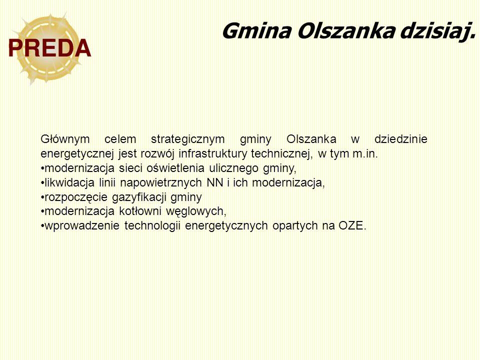 Gmina Olszanka dzisiaj. Głównym celem strategicznym gminy Olszanka w dziedzinie energetycznej jest rozwój infrastruktury technicznej, w tym m.in. mode