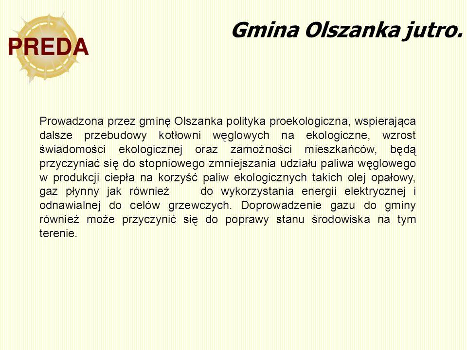 Gmina Olszanka jutro. Prowadzona przez gminę Olszanka polityka proekologiczna, wspierająca dalsze przebudowy kotłowni węglowych na ekologiczne, wzrost