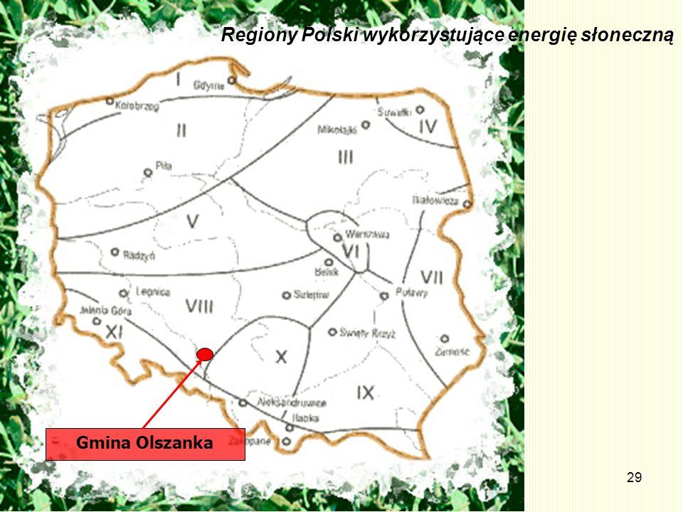 29 Gmina Olszanka Regiony Polski wykorzystujące energię słoneczną