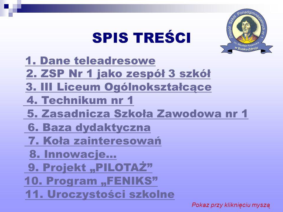 Projekt PILOTAŻ W projekcie Pilotaż nowych egzaminów maturalnych, realizujemy podprojekt Obowiązkowa matura z matematyki organizowany przez Centralną Komisję Egzaminacyjną w Warszawie.
