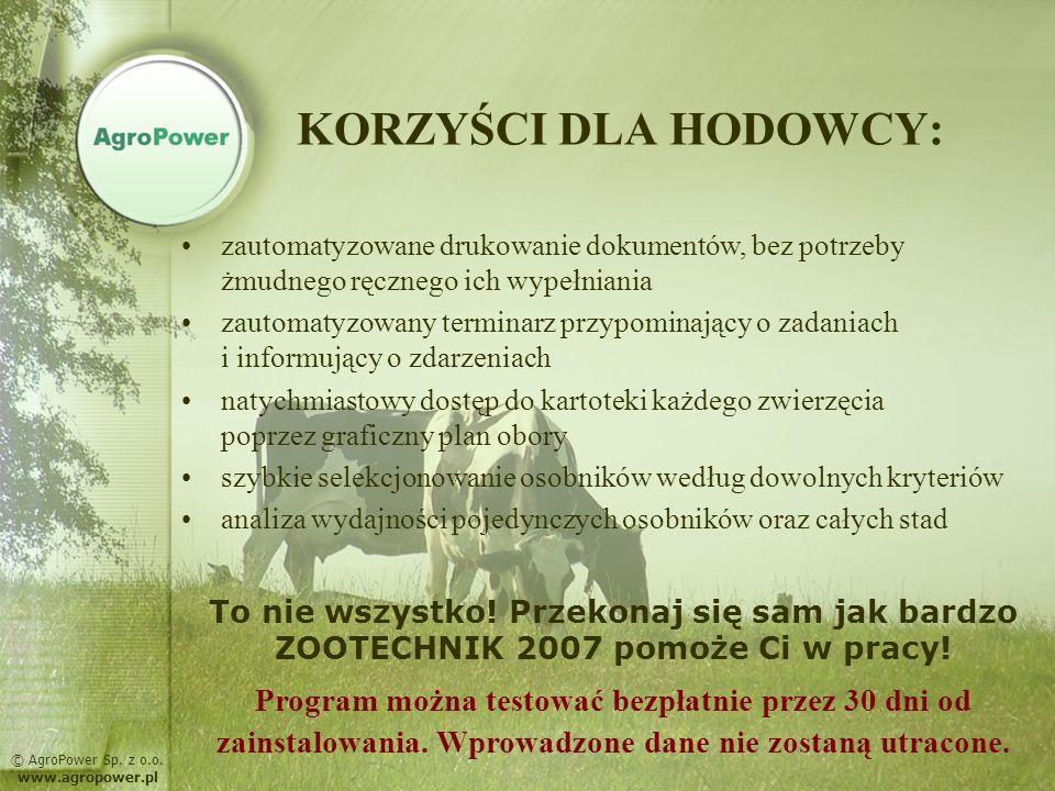 Terminarz © AgroPower Sp. z o.o. www.agropower.pl