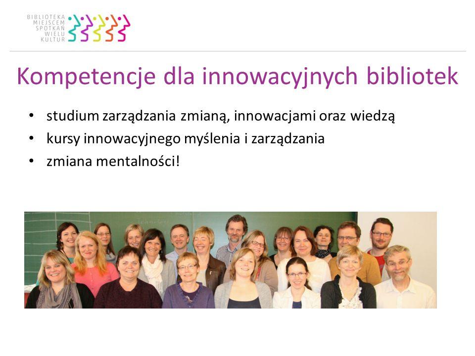 Kompetencje dla innowacyjnych bibliotek studium zarządzania zmianą, innowacjami oraz wiedzą kursy innowacyjnego myślenia i zarządzania zmiana mentalności!
