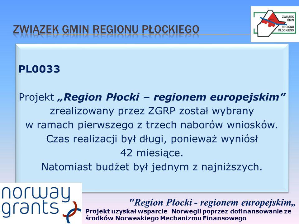 Inicjatorem i koordynatorem projektu był Związek Gmin Regionu Płockiego.