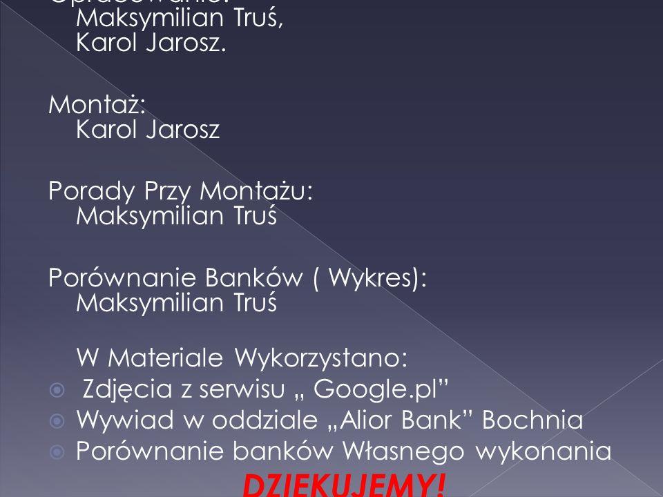 Opracowanie: Maksymilian Truś, Karol Jarosz.