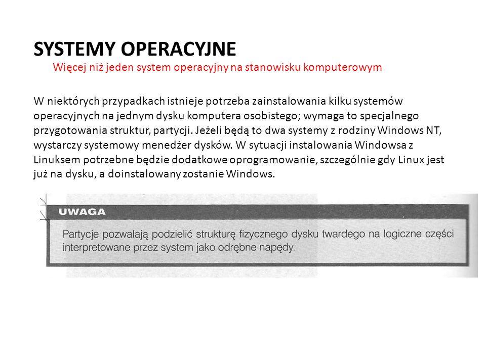 W niektórych przypadkach istnieje potrzeba zainstalowania kilku systemów operacyjnych na jednym dysku komputera osobistego; wymaga to specjalnego przy