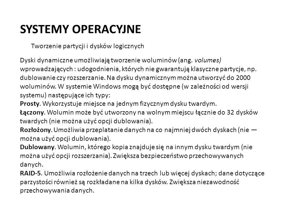 SYSTEMY OPERACYJNE JBOD (akronim z ang.