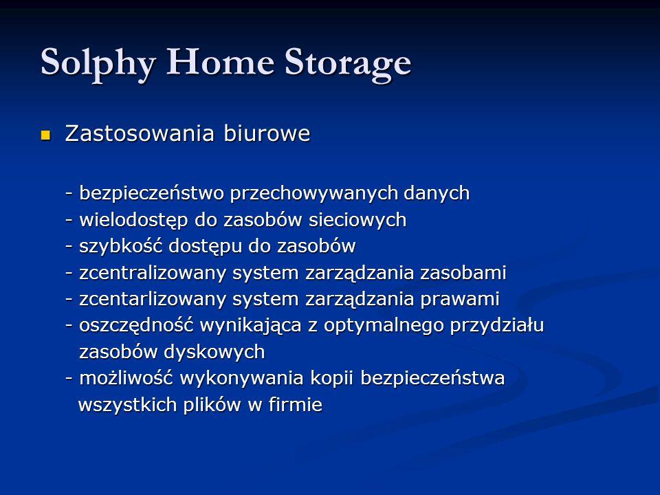 Zastosowania biurowe Zastosowania biurowe - bezpieczeństwo przechowywanych danych - wielodostęp do zasobów sieciowych - szybkość dostępu do zasobów -