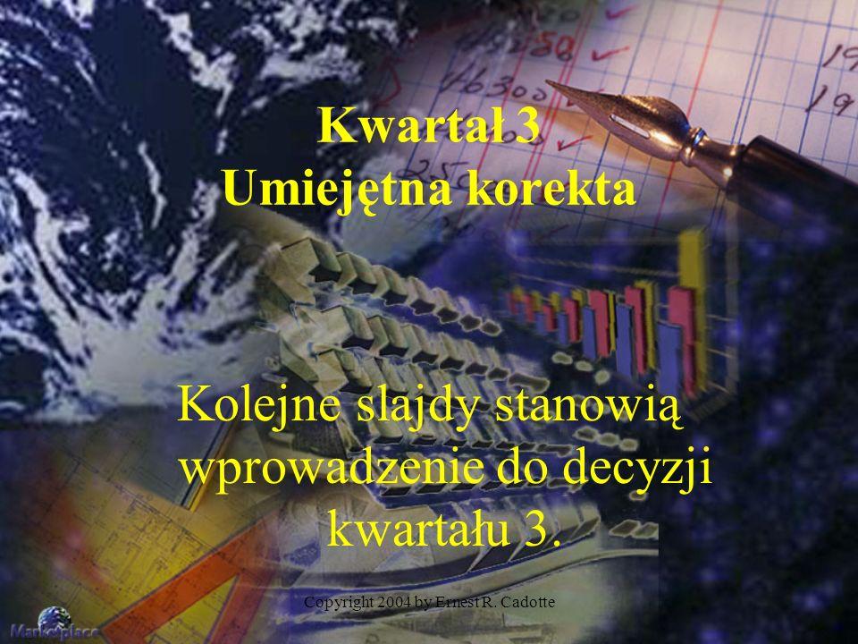 Copyright 2004 by Ernest R.Cadotte Co nowego pojawia się w kwartale 4.