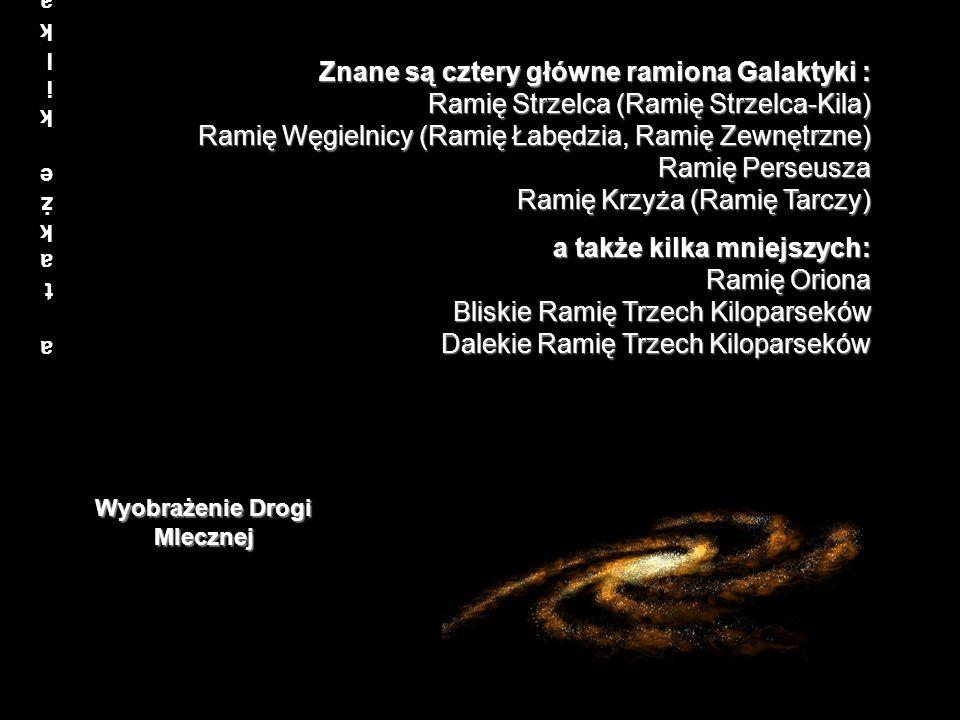 a także kilka mniejszych:Ramię Oriona Bliskie Ramię Trzech Kiloparseków Dalekie Ramię Trzech Kiloparseków a także kilka mniejszych:Ramię Oriona Bliski