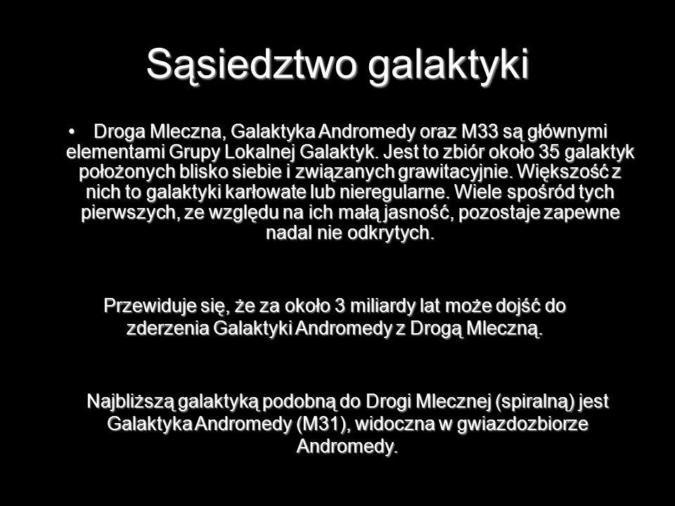 Sąsiedztwo galaktyki Droga Mleczna, Galaktyka Andromedy oraz M33 są głównymi elementami Grupy Lokalnej Galaktyk. Jest to zbiór około 35 galaktyk położ