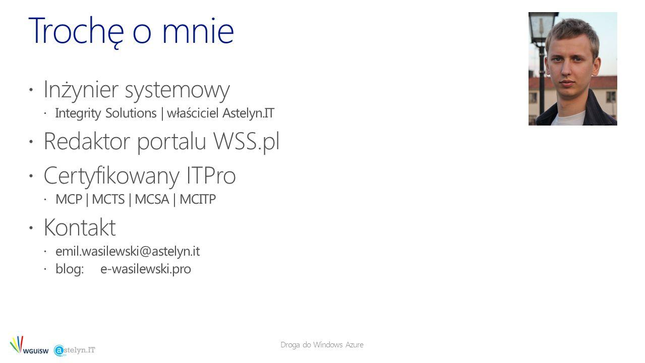 Droga do Windows Azure 13 LB 80/443 VPN Tunnel Usługa chmurowa1 Usługa chmurowa 2 WEB SQL AD/DC/DNS Corp Users