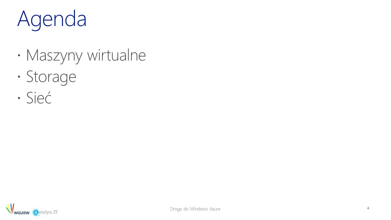 Droga do Windows Azure